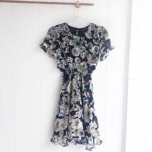 NWT Bardot Floral Ruffle Cutout Brianna Dress